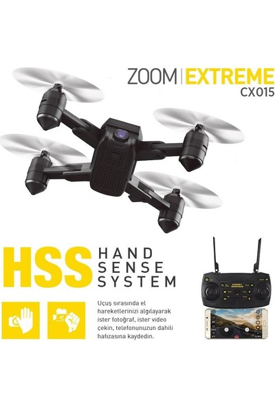 Corby CX015 Wifi Kameralı Katlanabilir 1080P Smart Drone + 2 Batarya