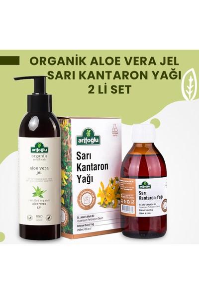 Arifoğlu Organik Aloe Vera Jel 250ML + Sarı Kantaron Yağı 250ML 2 Li Set