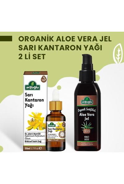 Arifoğlu Organik Aloe Vera Jel 125ML + Sarı Kantaron Yağı 50ML 2 Li Set