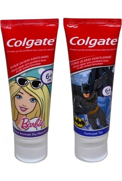 Colgate Çocuk Diş Macunu 75ml (Barbie-Batman) - 12'li Paket