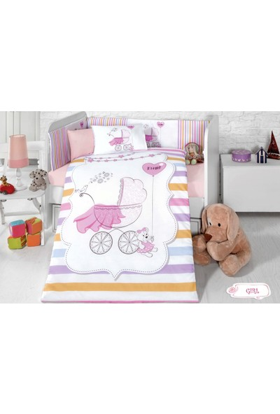 Komfort Home Bebek Uyku Seti 8 Parça Girl