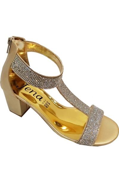 Jena 0747 Trend Fashion Taşlı Kadın Sandalet