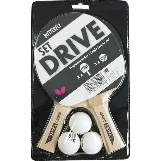 Butterfly 85102 Drive Tt 2 Raket 3 Top Masa Tenisi Raket Seti