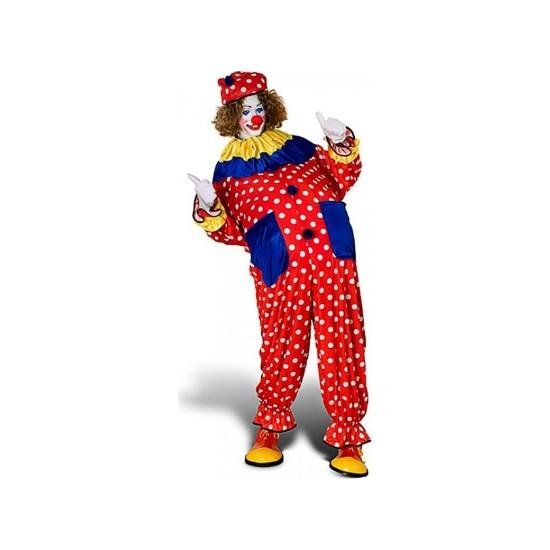 Kostümce Puanlı Palyaço Kostümü Yetişkin
