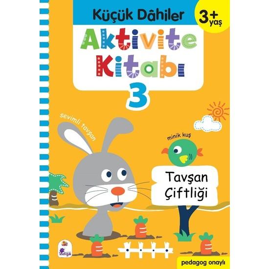 Küçük Dahiler Aktivite Kitabı 3 – 3+ Yaş (Pedagog Onaylı) - Gülizar Ç. Çetinkaya - Ayça G. Derin