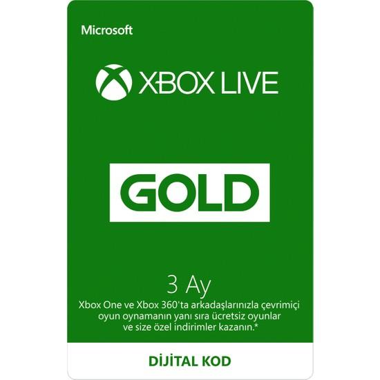 Microsoft Xbox Live Gold Üyeliği - 3 Ay