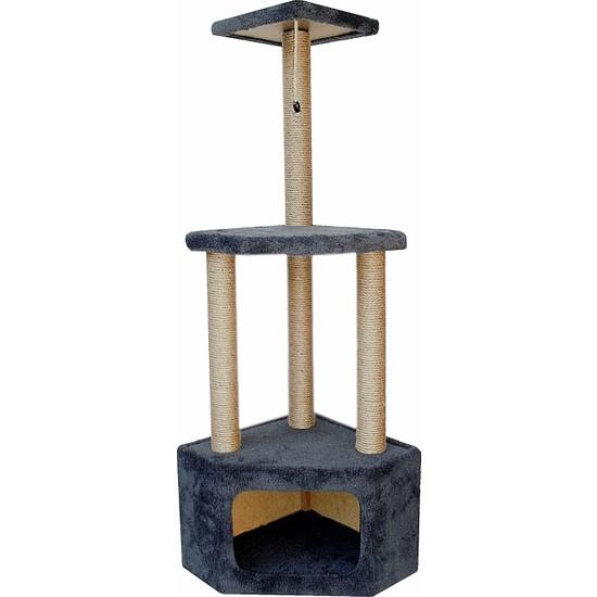 Turkuaz Pet Tr1969 Köşe Katlı Kedi Evi Kedi Tırmalama Tahtası Kedi Tırmalaması 112 cm
