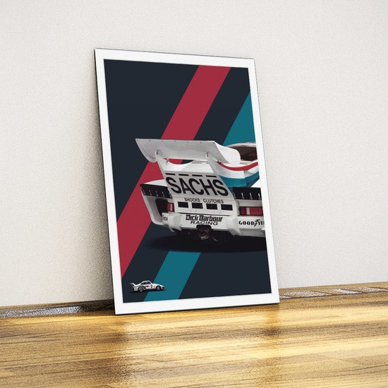 Javvuz - Porsche 935 - Metal Tabela Poster