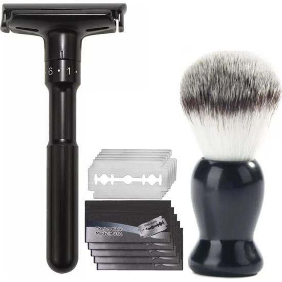 Qualis Shave Q7 Tıraş Makinesi Fırça 5 Adet Yaprak Jilet Set