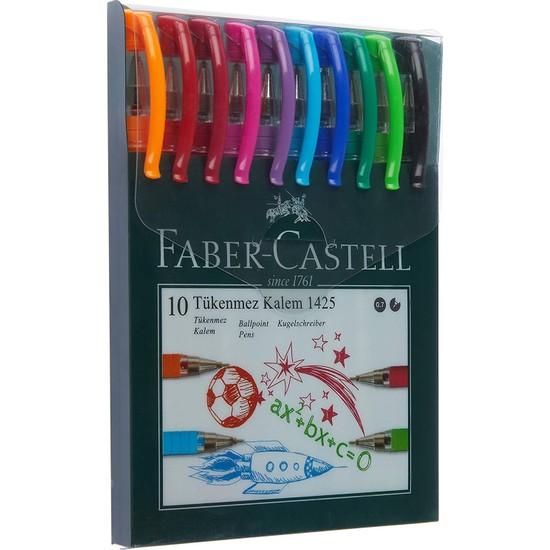 Faber-Castell 1425 Tükenmez Kalem Ailesi 10'lu Poşet