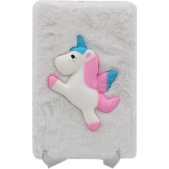 Ayd Promosyon Beyaz Unicorn Squishy Tüylü Kabartmalı Sukuşi
