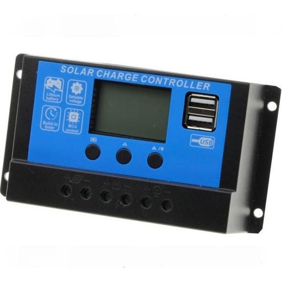 Spv Solar Güneş Paneli Şarj Kontrol Cihazı Regülatörü 10A/20A/30A