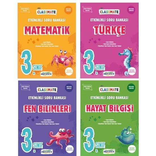 Okyanus Yayınları 3. Sınıf Classmate Tüm Dersler Soru Bankası 4 Kitap Set