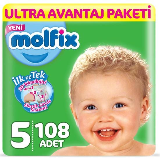 Molfix Bebek Bezi 5 Beden Junior Ultra Avantaj Paketi 108 adet