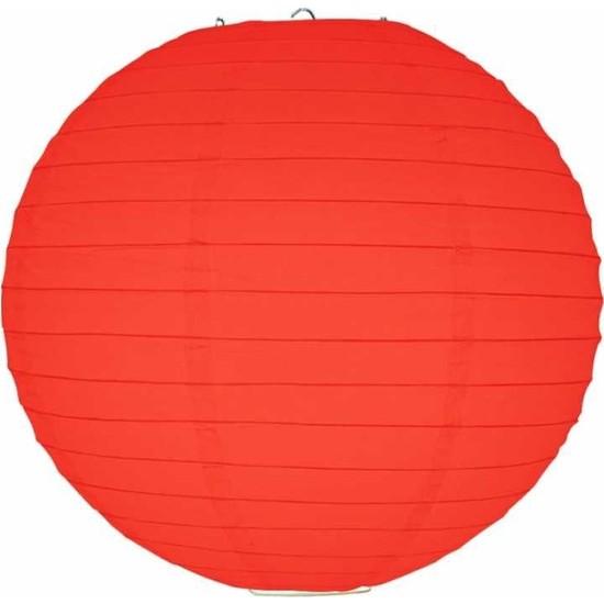 Kikajoy Kırmızı Kağıt Dekor Fener 30 cm