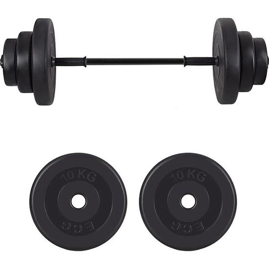 Ecgspor 22 kg Halter Seti - Deadlift Squat Biceps Triceps Shoulder