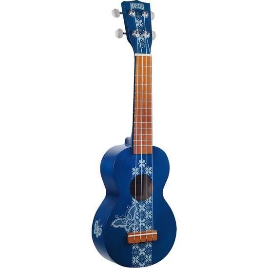 Mahalo Kahiko Batik Soprano Ukulele (Mavi)