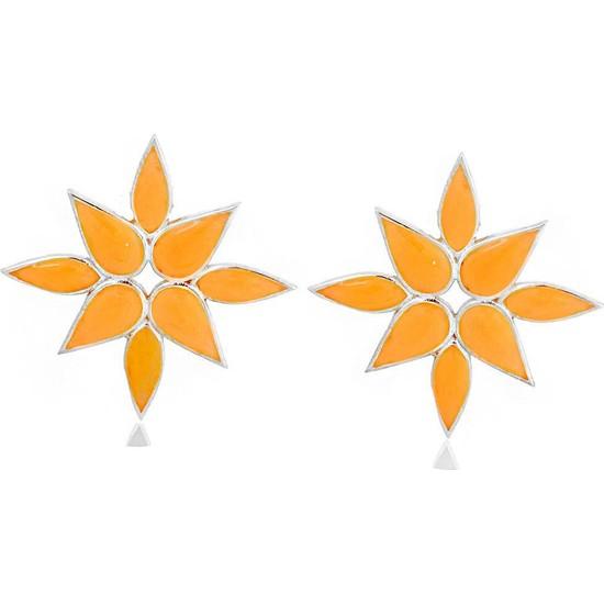 Masaliko Leon Lotus Gümüş Küpe
