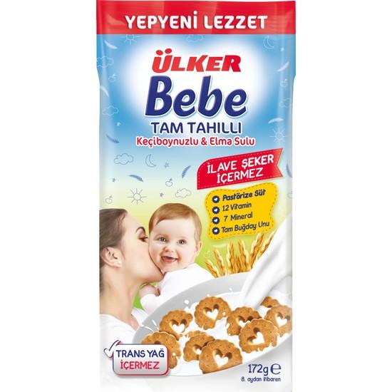 Ülker Bebe Keçiboynuzlu ve Elma Sulu Tam Tahıllı Sütlü Bisküvi 172 g