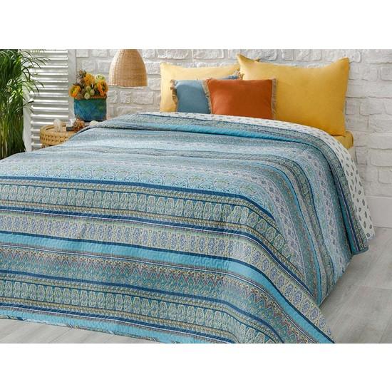 Englısh Home Giles Tek Kişilik Çok Amaçlı Yatak Örtüsü 160 x 220 cm Mavi