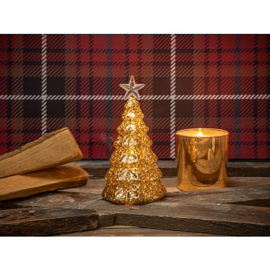 English Home Winter Tree Bıblo 9X17 Cm Gold