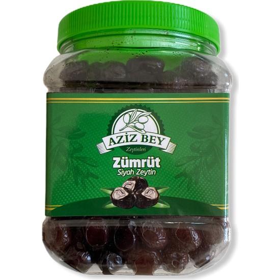 Azizbey Zeytinleri Zümrüt Salamura Gemlik Siyah Zeytin - 1 kg