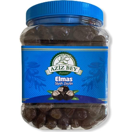Azizbey Zeytinleri Elmas Salamura Gemlik Siyah Zeytin - 1 kg