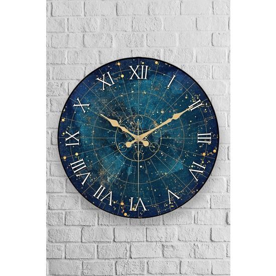 Muyika Space Oval Gerçek Cam 36 cm Duvar Saati
