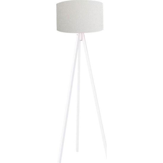 Mimilos 3 Ayaklı Dekoratif Lambader Gri/beyaz
