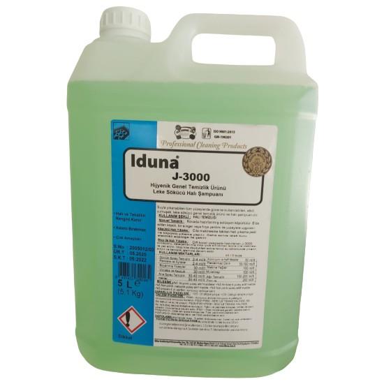 Iduna J-3000 Hijyenik Genel Temizlik Ürünü Leke Sökücü Halı Şampuanı 5 Litre