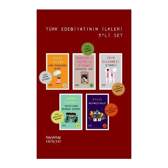 Türk Edebiyatının İlkleri 5'Li Set - Semsipasazade Sezai