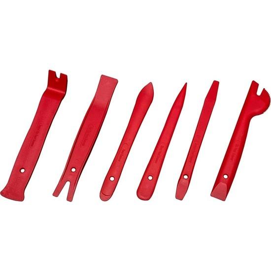 Turkuaz Oto Teyp Sökme Ön Panel Döşeme Aparatı Trim Seti 6'lı Kırmızı