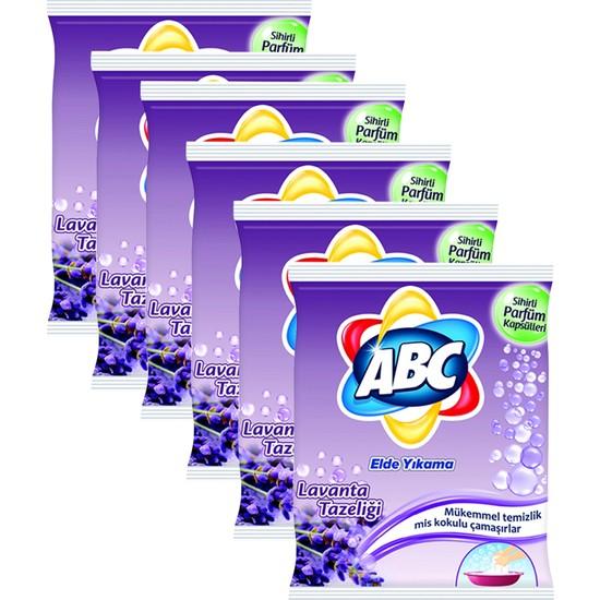 Abc Elde Yıkama Toz Çamaşır Deterjanı Lavanta Tazeliği 6 x 600 gr