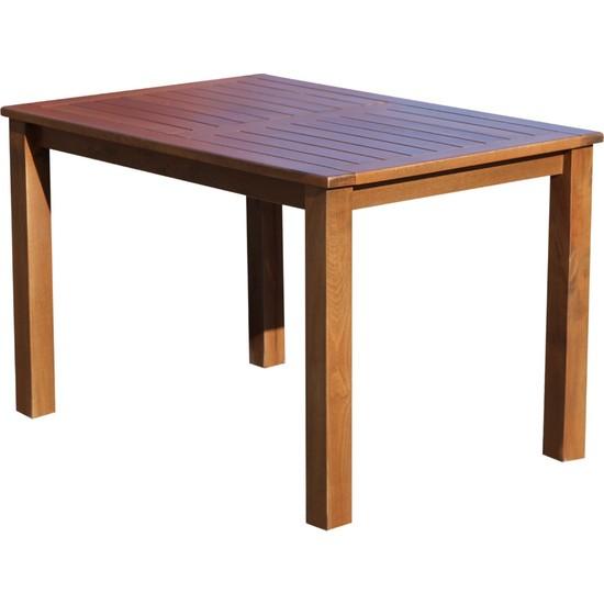 Bahçeme Ahşap Bahçe Balkon Mutfak Masası -Bodrum 4 Ayak 80X120