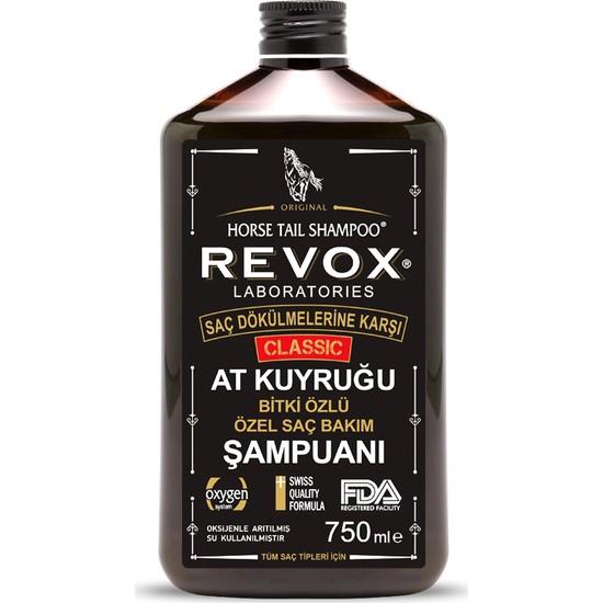 Revox Saç Dökülmelerine Karşı At Kuyruğu Bitki Özlü Saç Bakım Şampuanı / Aile Boyu 750 ml