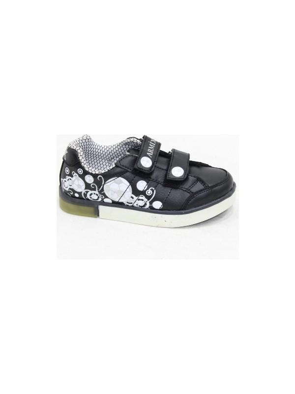 Armix Siyah Beyaz Çocuk Spor Ayakkabı