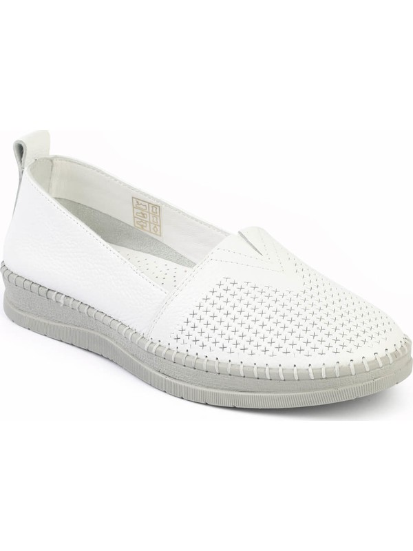 Libero Fms240 Kadın Babet Ayakkabı Beyaz