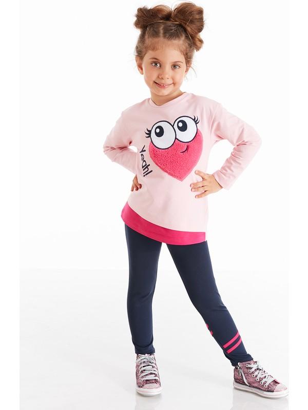 Mushi Kalp Gözü Kız Çocuk Tayt Takım