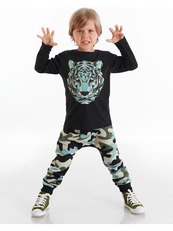 Mushi Kamuflaj Kaplan Erkek Çocuk Pantolon Takım