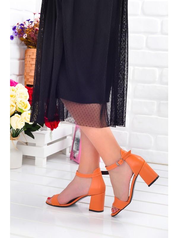 Ayakland 2013-05 Cilt 7 cm Topuk Kadın Sandalet Ayakkabı