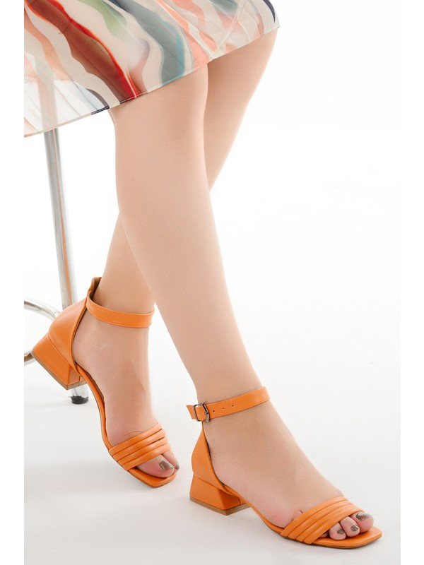 Ayakland 920 Cilt Günlük 3 cm Topuk Kadın Sandalet Ayakkabı