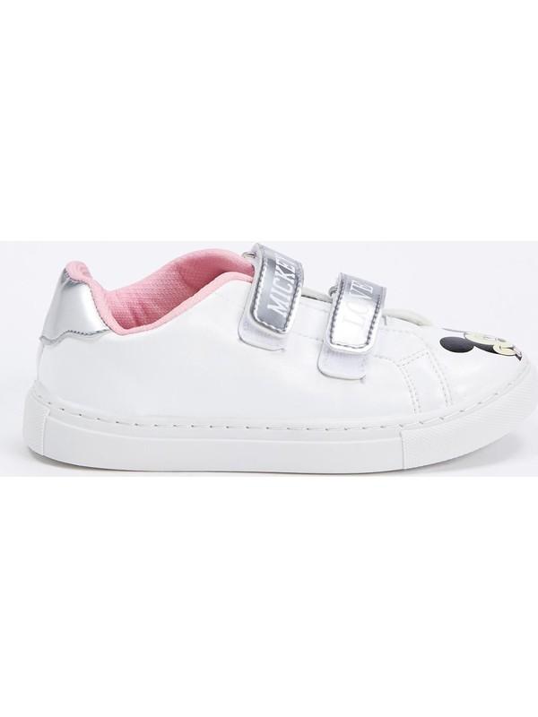 DeFacto Kız Çocuk Mickey Mouse Lisanslı Cırtcırtlı Spor Ayakkabı N4322A620AU