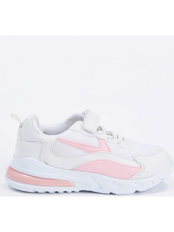 DeFacto Kız Çocuk Bağcıklı Cırtcırtlı Spor Ayakkabı S1048A620AU
