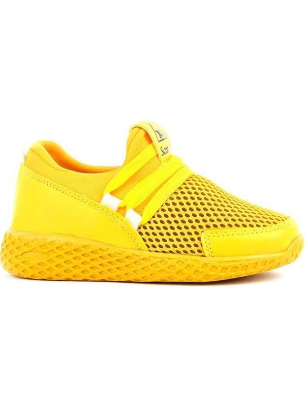 Scor-X Bağcıksız Çocuk Sarı Spor Ayakkabı