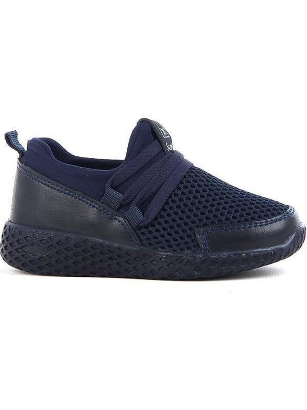 Scor-X Bağcıksız Erkek Çocuk Lacivert Spor Ayakkabı