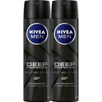 Nivea Men Deep Dımensıon Sprey Deodorant Erkek 150ml 2'li Avantaj Paketi