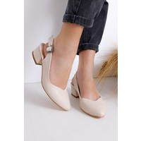 Hayalimdeki Ayakkabı Valentina Topuklu Ten Cilt Ayakkabı