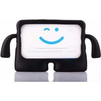 CepLab Apple iPad Mini Kılıf Emoji Standlı Silikon Tablet Kılıfı + Dokunmatik Kalem Siyah