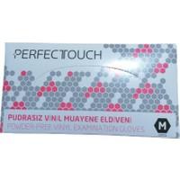 Perfect Touch Çok Amaçlı Pudrasız 100'LÜ Paket Vinil Eldiven (M)