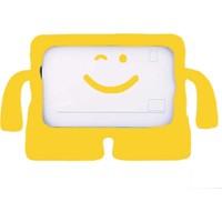 Ceplab Apple iPad 3 Kılıf Emoji Standlı Silikon Tablet Kılıfı+Dokunmatik Kalem Hediye